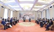 吉林省委常委、长春市委书记、市长张志军会见中建交通董事长程先勇